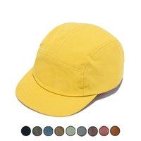 5 Panels Cap Short Brim Baseball Hat for Women Flat Bill Blank Camping Gorras Solid Color Low Crown Classic Adjust Men Gorro