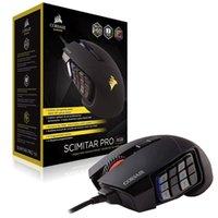 Game Controller Joysticks Corsair Gaming Scimitar Pro RGB Moba / MMO PC Mouse ottico 12000 DPI Slider Slider Pulsanti meccanici 4 Zone