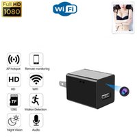 Cameras Power Adapter Plug Wifi Mini Camera 1080P HD Home Security Video Surveillance Wireless IP With Micro USB Charging Port