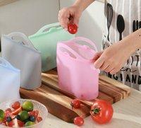 FDA reusable سيليكون الغذاء تخزين حاويات الحافظ حقيبة محكم ختم الحاويات الطازجة تنوعا أكياس الطبخ NHD7072