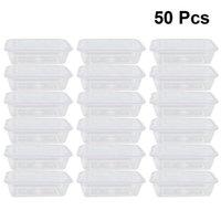 50 pcs frutas transparentes realizam refeição de salada descartável da caixa tomar recipientes
