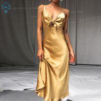 Abendkleider Ameiision Elegante a-line ärmellose Spaghetti Strap Sexy Backless 2021 Damen Formale Party