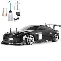 Hsp rc carro 4wd 1:10 na corrida de estrada dois velocidade drift veículo brinquedos 4x4 nitro potência de gás hobby carro controle remoto 210729
