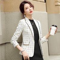 Chic Koreaner Plaid Anzug Frauen 2021 Frühlingstemperament Kleiner Duft Kurzer vielseitiger lässiger Spur