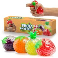 US STOCK Party Favor Fruit Jelly Water Squishy Cool Stuff Funny Things toys Fidget Anti Stress Reliever Fun for Adult Kids Novelty Gifts