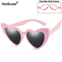 Warblade الأطفال الجديد النظارات الشمسية الاطفال الاستقطاب نظارات الشمس الحب القلب الفتيان الفتيات نظارات الطفل مرنة سلامة الإطار النظارات