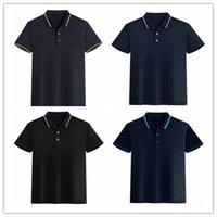 2021 Yaz Kısa Kollu Erkekler Polo T-Shirt T Gömlek Moda Gömlek Jecasual Ince Düz Renk Iş Erkek Giyim AB13