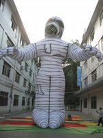 Factory price customized durable inflatable mummy balloon white ghost events promotion Halloween outdoor decoration