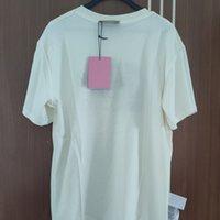 108555 Летняя мода классический бренд роскошный дизайн универсальные буквы печати досуг свободных женщин мужчины совместно подписан футболка север G1 210322