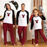 Família Correspondência de Pijamas de Natal Mãe Crianças Conjuntos Crianças Sleepwear Crianças Pijamas Mãe Filha Elf Cere PJS 210929