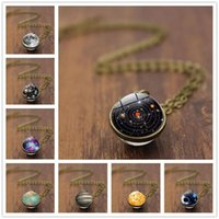 Pendant Necklaces COSYOO Glass Ball Necklace Simple Universe Planet For Women Clavicle Chain Charm Jewelry