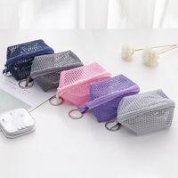 Mini Toiletry Bag ,Lipstick ,Egg ,Pocket Change ,Key ,Headset