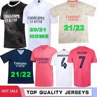 Sergio Ramos Hazard Benzema Real 20 21 22 مدريد لكرة القدم الفانيلة Modric 2021 2022 Asensio Marcelo Football Shirt Men Kids Kits Four Camiseta