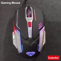 USB Gaming Mouse Mecánico Ratones alámbrico G402 Ergonómico Óptico 4 Ajustable 3200 DPI 6D Botton LED Highlight Gamer para computadora PC Laptop juego