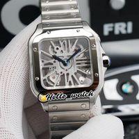 TWF Tom Holland Dumont Watches WhSa0007 WHSA0015 سويسرية روندا 4S20 كوارتز رجالي ووتش الهيكل العظمي الطلب الفولاذ المقاوم للصدأ سوار hwrx hello_watch