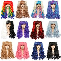 Постепенный парик Лолита с хвостиком длинным скручиваемостью синтетических волос, бахрома для волос Daily Holding Girls