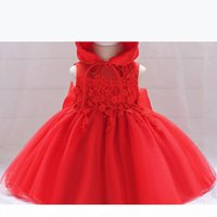 2018 Little Girl Pageant Dresses With Hat Lace Applique Ball Gown Toddler Birthday Party Gowns Kids Formal Christmas First Communion Wear