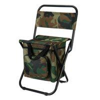 Cadeira de pesca dobrável isolamento mochila com saco mais fresco assento de praia portátil acampamento cadeiras acessórios de fezes