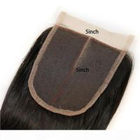 Малайзийская 9А человеческие волосы 8-24 дюйма Virgin Hair 5 * 5 кружева закрытие кузова волна швейцарских кружева 5x5 кружевное закрытие средняя три свободной части
