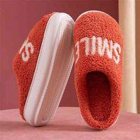 Women Plush Slippers Winter Warm High Heels Furry Soft Sole Shoes Men Ladies Couples Comfort Home Indoor Bedroom Fur Slides 210914