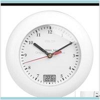 装飾ホームガルデルドル温度計の時計温度表示壁吸引カップのアナログ防水シャワー時計時計R7xt