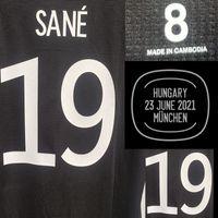 Home Têxtil 2021 Jogador desgastado Edição Kroos Sane Muller Jogos de Futebol Patch Badge