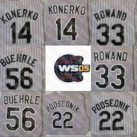 2005 WS Champions Baseball Jersey Chicago Paul Konerko Mark Buehrle Bobby Jenks AJ Pierzynski Venda Creda Jermaine Tye Thomas Podsednik jede