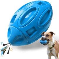 개구리 강아지 장난감 씹는 사람을위한 개 장난감 : 고무 강아지 씹는 공을 끽끽 소리, 거의 파괴적이고 내구성이 풍부한 애완 동물 장난감