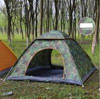 Tiendas de apertura automática rápida al aire libre Pop Up Beach Tent Tent Camping Tents para 2-3 personas Ultralight Mochilero tiendas de tiendas refugios