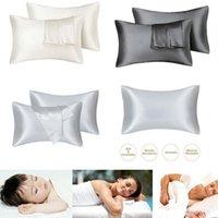 2 pçs / set silk cetim pillowcases mulberry travesseiro case rainha rei padrão para cabelos e pele hipoalergênica cobrança