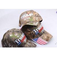 Камуфляж Трамп Шляпа Президентские Выборы Бейсболки Трамп Шляпа Вышивка США Флаг Печать Взрослых Шляпы Регулируемая пика Cap AHB5899