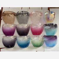 13Colors Safety Face Shield Glasses Faceshield Visor Transparent Anti-Fog Anti-Splash Layer Full Face Cover Protective Eyes Face Mask 716 V2