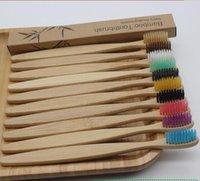 Контрактные красочные натуральные бамбуки зубная щетка набор Softs Breath Create Уголов для зубов отбеливание бамбуковые зубные щетки мягкие зубные уход