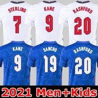 Camiseta de futebol da INGLATERRA 2020 2022 KANE STERLING RASHFORD SANCHO HENDERSON BARKLEY MAGUIRE 20 22 camisas de futebol nacional masculino + infantil conjuntos uniformes
