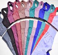 أزياء المرأة ملابس رياضية رياضية اليوغا مجموعات تنفس الصلبة سترة + طماق السراويل اللياقة الجري ملابس مثير الصالة الرياضية أعلى الرياضة الجوارب لولو طماق