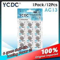 YCDC 12 stks AG13 357A LR44 A76-knop CELL MAIN BATTERIJ LRA76 1.5V Alkaline-batterijen voor Vernier Calipers Alarm Projection Clock