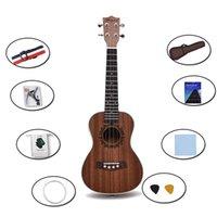 23-inch ukelele draagbare kleine gitaar sapele mahonie-kern professionele instrumenten voor beginners zonder matching