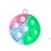 Keychain Finger Toys Pop It Fidget Toy Jewelry poo its Key Chain Push Bubble Board Game Sensory simple dimple Stress Reliever HHF6744