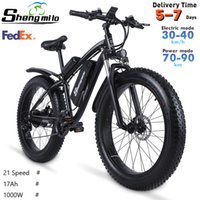 US SHENGMILO MX02S 1000W Adulto Mountain Mountain Mountain Bike 17ah 48 V Li-ion City Bicycle Bicycle 40km / h E-Bike Beach Cruiser