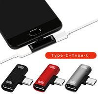 3 In 1 USB C To Type-C Adapter USB Type C Charging Cable Charger Earphone Converter for Xiao Mi 8 Mi 6 Headphone Adapter TYPEC Phone
