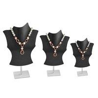 Malas de jóias, sacos 3d colar de manequim acrílico titular de exposição pingente de pingente stand p9yf