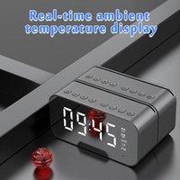 Desk & Table Clocks Digital Dual Alarm Clock Large LED Mirror Screen Display Multi-Function Wireless Bluetooth Speaker MP3 Home Simple Style
