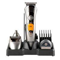 Clippers para el cabello All In One Electric Clipper Razor Shaver Man Kit de aseo Recargable Cuerpo Barba Trimmer Máquina de pelo Máquina de pelo Hombres Groomer Corte