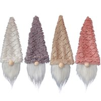 Christmas Gnomes Wine Bottle Covers Handmade Swedish Tomte Champagne Toppers Holiday Home Decorations XBJK2110