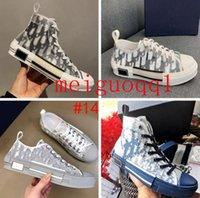2021 캐주얼 신발 고품질 23 대각선 하이 로우 탑 기술 스니커즈 여성 패션 더블 디자이너 신발의 남성용 야외 가죽 플랫폼 신발 # 35-47