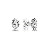 تشيكوسلوفاكيا الماس أقراط للنساء مجوهرات فاخرة مع مربع لبندرا 925 فضة المسيل للدموع قطرة الزفاف حلق مجموعة
