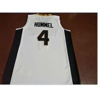 Kundenspezifische Bucht Jugendfrauenweinlese # 4 Purdue Robbie Hummel Basketball-Jersey-Größe S-6XL oder benutzerdefinierte ja name oder nummer jersey