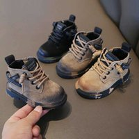 Claladoudou Marca de cuero genuino Niñas Chicas Zapatillas de deporte Botas Amarillo Verde Negro Botas de Motocicleta Zapatos Zapato de invierno cálido