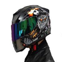 Casco Jiekai Maschile Moto Aperto Face Casco Doppio Lente Summer Anti-Fog Personalità Cool Four Seasons