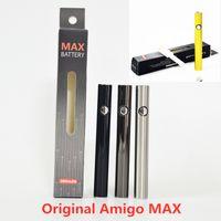 Amigo Max Vape Battery 510 резьбовые аккумуляторы для предварительного нагрева 380mAh регулируемое напряжение снизу USB зарядки для кабины Amigo Vape с розничной коробкой USB Cabel оригинал